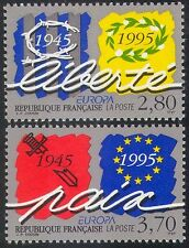 France 1995 Europa/Peace/Freedom/Liberty/WWII/War/Barbed Wire 2v set (n31351)