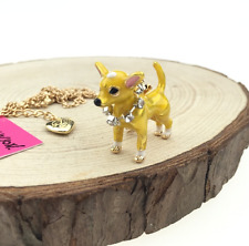 Hot Fashion Betsey Johnson Pendant Jewelry Women Chain Puppy Rhinestone Necklace