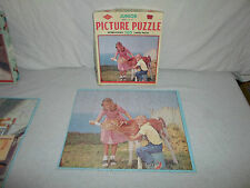 Complete ! Built Rite Junior 100 Piece Picture Puzzle *Feeding Time Cow/Farm/Boy