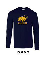 185 Beer Long Sleeve graphic bear wilderness drink drunk college funny awesome