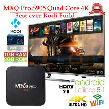 Fully Loaded MXQ PRO 1080p HDMI S905 Quad-Core KODI Android 5.1 Smart TV Box