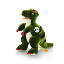 STEIFF Sharptooth T Rex Dinosaur Plush toy child gift 24cm Green EAN 066887 New