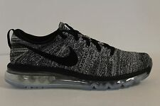 Men's Nike Flyknit Air Max Oreo White Black 620469-105 Size 9 New DS