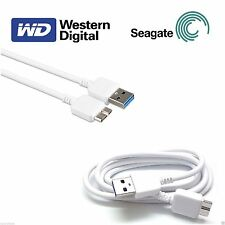 USB 3.0 Cable for WD Elements My Passport Portable External Hard Drive White
