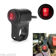 Motorcycle Handlebar Headlight Fog Spot light On Off LED Switch Waterproof Black