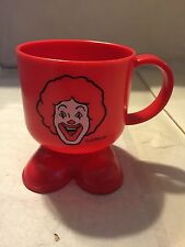 McDonald's Ronald McDonald Red Foot Plastic Handle Cup