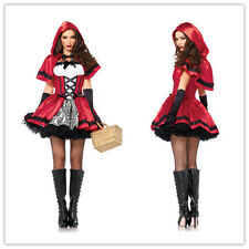 Little Red Riding Hood Ladies COSTUME Fancy Dress Hens Party HALLOWEEN Outfit