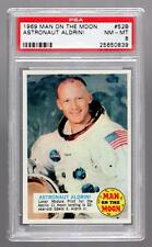 1969 Topps MAN ON THE MOON #52b Edwin BUZZ Aldrin Original Trading Card PSA 8