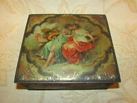 Antique Collectable Macfarlane Lang & Co's Biscuits Tapestry Glove Tin - 1900's