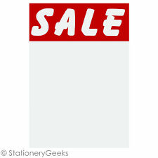 """24 SALE Cards 6x4"""" Price Tickets Label Discount Shop Pricing Sign Tag Market UK"""