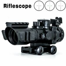 New Style 4X32 RGB Prismatic Rifle Scope with Fiber Optic Sight Tri-illuminated