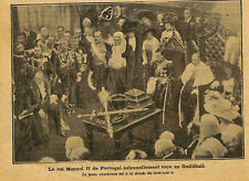 LONDRES LONDON RECEPTION ROI MANUEL DU PORTUGAL AU GUILDHALL ILLUSTRATION 1909