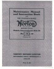 Norton Workshop Maintenance Manual International 30 up to 1953