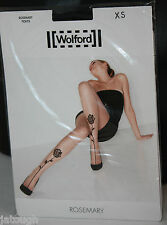 Wolford ~ ROSEMARY  ~ tights BNWT XSmall UK 6/8 black on black
