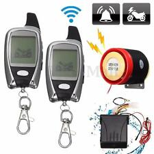 LCD 2Way Motorcycle Alarm Remote Control Engine Start Security Anti-theft System