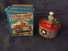 FLYING JEEP + ORIGINAL BOX SPACE TOY ROBOT BATTERY OPERATED