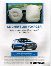 Publicité Advertising 1994 Le Chrysler Voyager