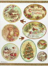 Ricepaper / Decoupage paper, Scrapbooking Sheets Merry Christmas