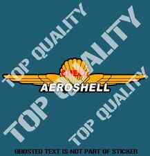 VINTAGE SHELL AEROSHELL OIL Decal Sticker Vintage Retro Mancave Hot Rod Stickers