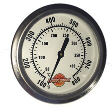 """2-5/8"""" BBQ smoker pit thermometer charcoal grill TEMP GAUGE 1 3/8"""" stem ACCURATE"""