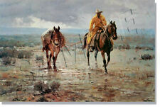 """*** """"WET WEATHER WANDERERS"""" LIMITED EDITION PRINT BY ROBER PUMMILL***"""