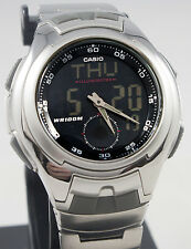 Casio AQ160WD-1BV Men's Active Dial Watch Stainless Steel Analog Digital New