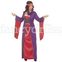 Ladies Lady Marion Maid Marian Medieval Fancy Dress Costume Outfit Party NEW
