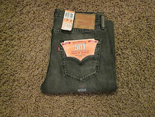 32 X 32 LEVI 501 ORIGINAL FIT MENS BUTTON-FLY JEANS -GRAY- NWT