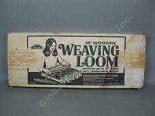 "Vtg Avalon 18"" Table Top Wooden Weaving Loom No 8181 + Box Instruction Manual NR"