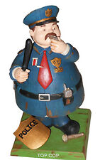 Bobble Guyz Police Officer Cop Figurine Hand Painted 7 Inch Tall NEW BOX