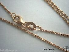 "Italian Solid 14K Pink Rose Gold 18"" Cable Lnk Chain 2g"