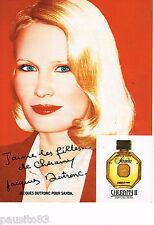 PUBLICITE ADVERTISING 055  1979  CHERAMY  parfum SANDA par JACQUES DUTRONC