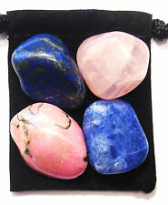 RELATIONSHIP RESCUE Tumbled Crystal Healing Set = 4 Stones + Pouch + Card