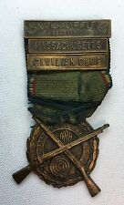 VTG NRA Medal Ribbon Massachusetts Civilian Club Indoor Small Bore Match 1920