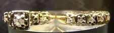 Beautiful Vintage Genuine Diamond Solid 10 K Yellow Gold Wedding Ring Set Size 4