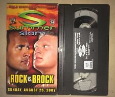 WWE - Summerslam 2002: Rock vs. Brock (VHS, 2002) WWF WCW NWO RARE NON RENTAL