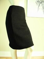 FENDI Chocolate Brown Santana Knit Pencil Skirt Size US 10 IT44 Italy Authentic