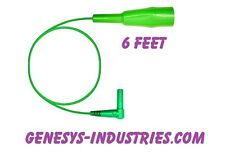 TEST LEADS FOR 3M DYNATEL LOOP ANALYZER 965DSP GREEN CLAMP 965DSP-05-GN-6 NEW