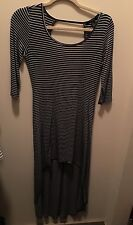 EUC Forever 21 Striped High Low Backless Dress Maxi Small