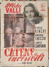 manifesto 2F film CATENE INVISIBILI Alida Valli Mario Mattoli 1952