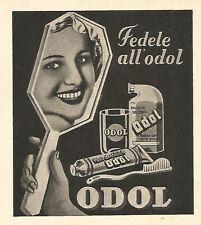 W9645 Fedele all'ODOL - Pubblicità del 1936 - Old advertising