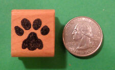 Cat Paw Rubber Stamp, Small Size, Wood Mounted