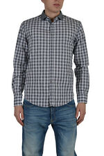"Hugo Boss ""Slim Fit"" Men's Gray Checkered Casual Shirt Size US M IT 50"