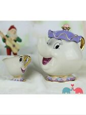 Disney Mrs. Potts Chip Tea Pot & Cup set Teapot Mug Beauty And The Beast UK