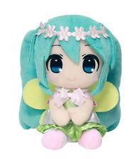 """1x Taito 459911200A Vocaloid Stuffed Plush Doll 6"""" Flower Crown Hatsune Miku"""