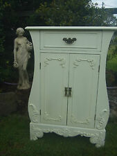 French Provincial Reproduction Cabinet Shabby Chic White Cupboard Draw Doors TV