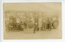 Gray Line Sightseeing Bus RPPC Bus Tourist & Driver Antique SAN FRANCISCO Photo