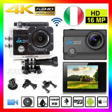 Q5 Pro Cam 4K HD SPORT WIFI ACTION CAMERA 16MP VIDEOCAMERA SUBACQUEA SJ9000 NERO