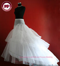 White & Ivory BRIDAL WEDDING DRESS /PROM PETTICOAT/UNDERSKIRT/CRINOLINE,S-XL