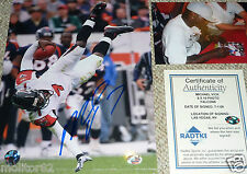 ATLANTA FALCONS MICHAEL VICK AUTOGRAPHED SIGNED 8x10 PHOTO RADTKE MV7 HOLOGRAM